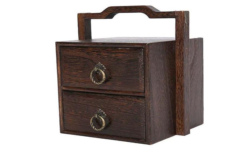 实木手提盒